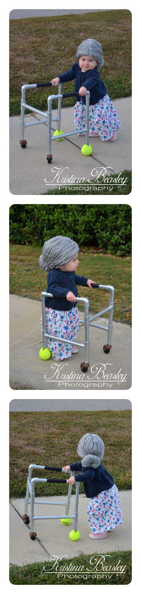 baby - Halloween - grandma - child - costumes - autumn - DIY - little - old - lady - fall