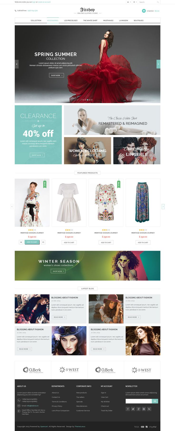 WooCommerce Bootstrap 3 Theme - Fitshop - WP Mustache WordPress Theme