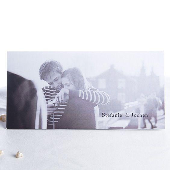 Sie gehört zur Spitze <br/> Modern Besonder Einladungskarten Hochzeit Foto Blanko