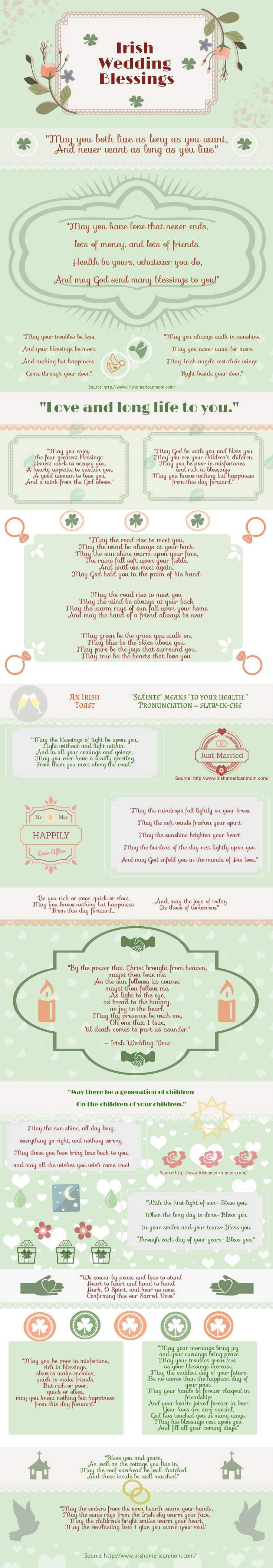 Irish Wedding Blessing Infographic by Irish American Mom