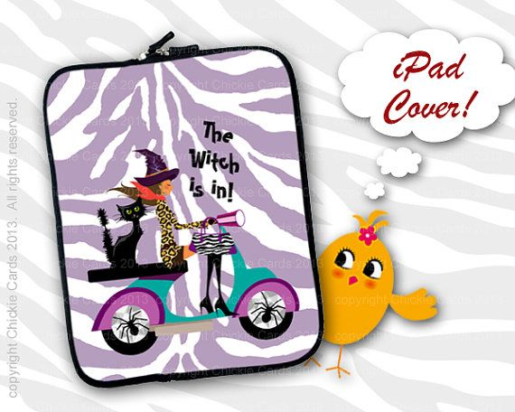 Witch iPad 3 Cover Sleeve Case Pagan Halloween by ChickieCards, $32.98