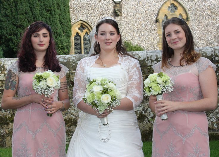 The beautiful bride and bridesmaids