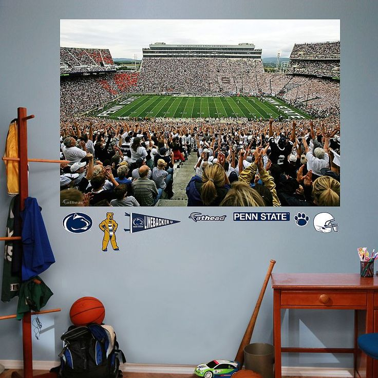 Fathead Penn State Nittany Lions Beaver Stadium Wall Decals, Multicolor