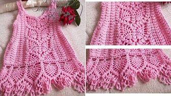 free crochet baby dress patterns - YouTube