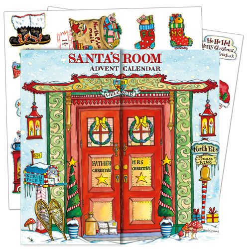 With 24 pieces to slot in each day in the run up to Christmas is this lovely Santa's Room Advent Calendar from Phoenix Trading. At just £7.50 this can be purchased at www.nichola.cards