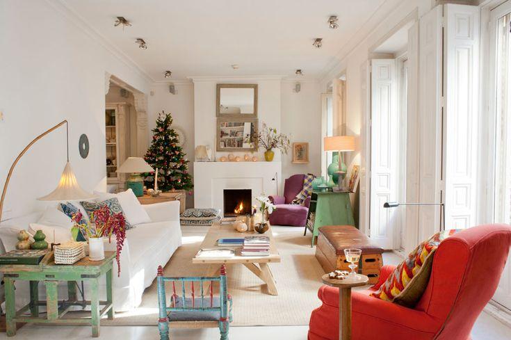 Apartamento en Madrid de Anouk de Gruyter con sofás y butacas de Blasco & Blasco