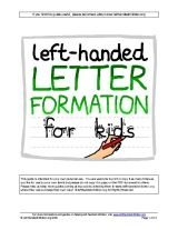 Letter formation guide for left handed children For all my friends who