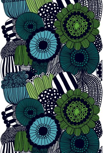Marimekko Siirtolapuutarha Green Tablecloth From: $105.00