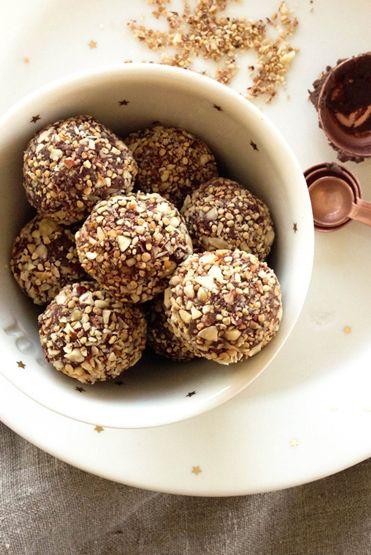 "Loving Earth - Recipes - ""Ferrero Rocher"" Black Bean Chocolate Truffles"