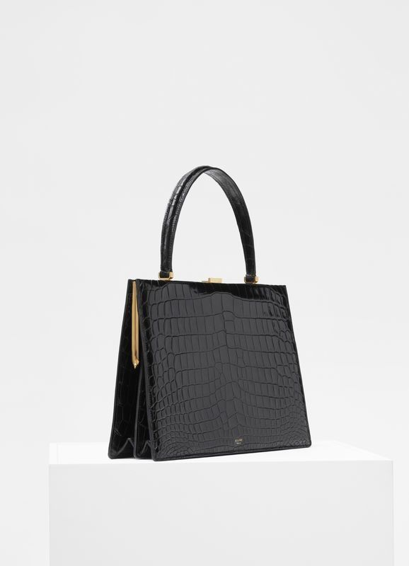 660f53660a35 Medium Clasp bag in crocodile