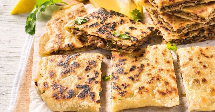 This is a Middle Eastern spin on popular Turkish gozleme. Enjoy the lamb but don't fear the dough!