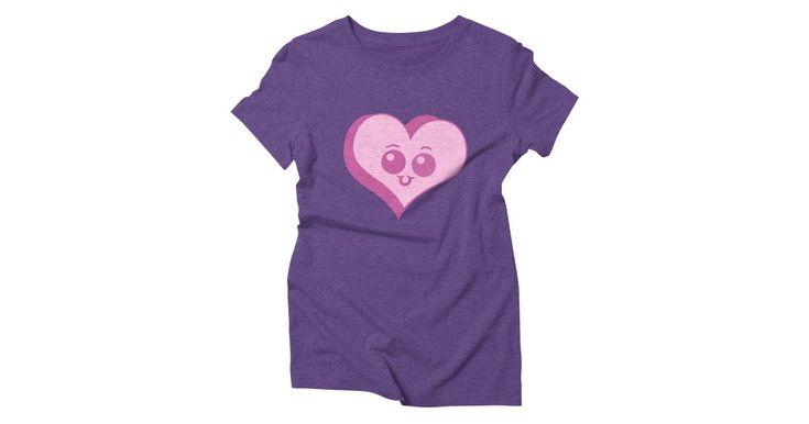 Chibi Pink Heart shirt  #Threadless #shirts #tshirts #cute #heart #pinkheart #cuteshirts #heartshirts #cartoon #pink