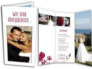 XXL-Dankeskarten zur Hochzeit - Danke, Danke, Danke! Danksagungskarte mit Rosen