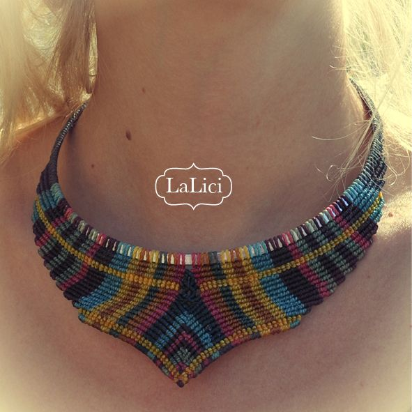 Colour statement around your neck! made to order in all your favourite colours