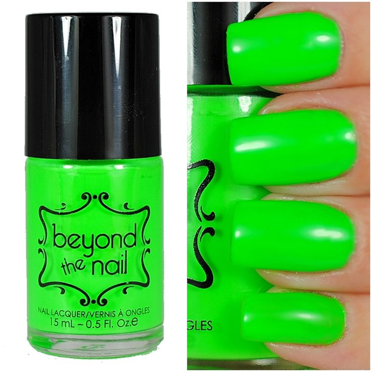 Neon Green Nail Polish - UV Reactive by beyondthenail on Etsy https://www.etsy.com/uk/listing/165727677/neon-green-nail-polish-uv-reactive