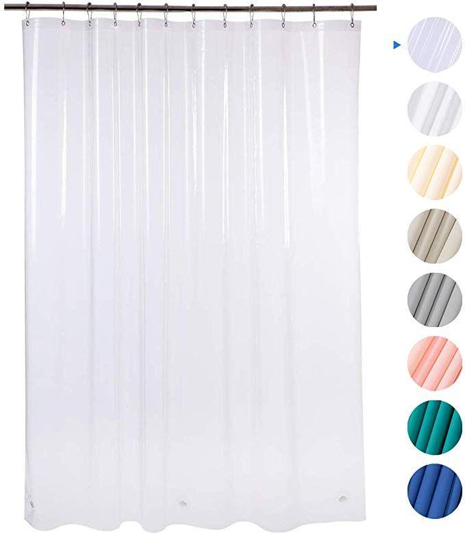 Amazon Com Amazerbath Plastic Shower Curtain 72 X 72 Pink Eva 8g Thick Bathroom Shower Plastic Shower Curtain Cool Shower Curtains Shower Curtain