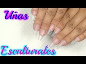 Uñas acrílicas Esculturales/como hacer uñas paso a paso - YouTube