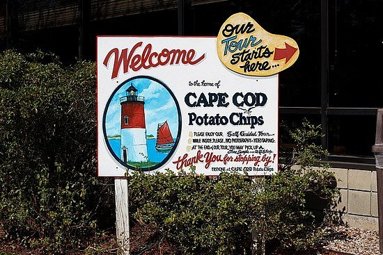 Cape Cod Potato Chips, Hyannis MA - one of our favorite rainy day places to visit when on Cape Cod - free samples at end of tour!