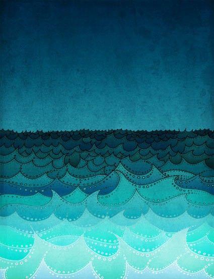 Making waves   #depth #color #cooltones
