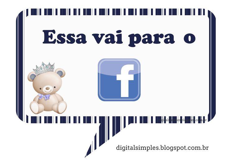 """Arte Digital Gratuita, festa de Aniversário """"Ursinho Príncipe Azul Marinho"""""""