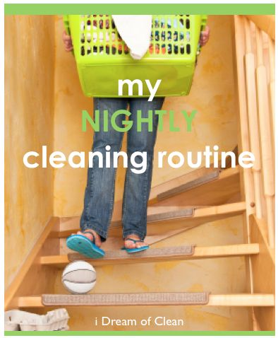 Do you have a nightly cleaning routine? It could help! #cleaning #spring #routine