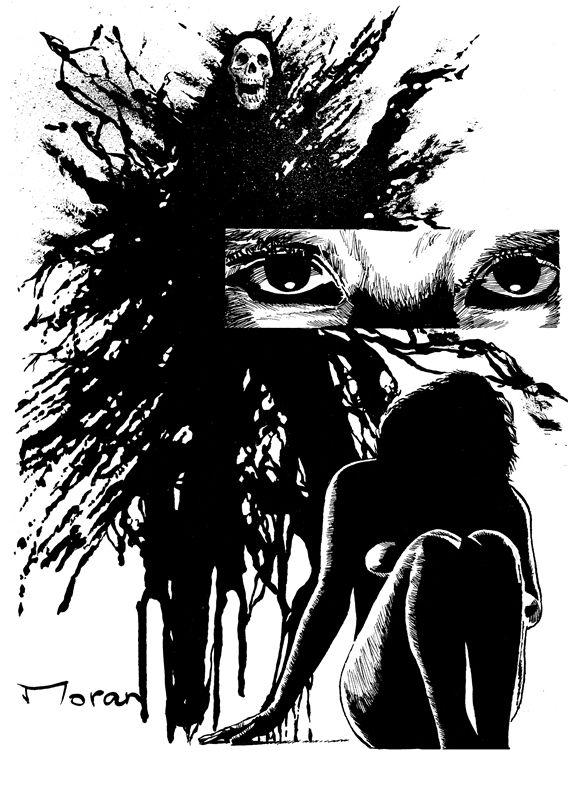 "Interior artwork for ""How the Dark Bleeds."" Artwork by Rob Moran.  http://getbook.at/JasperPrimeCuts"