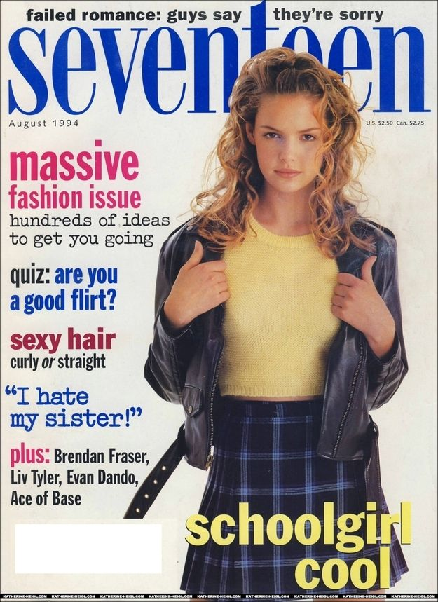 Before Katherine Heigl really broke into acting (her first big role was My Father, the Hero in '94), she was doing quite well with modeling. | Katherine Heigl's Teenage Modeling Career Was Surprisingly Awesome