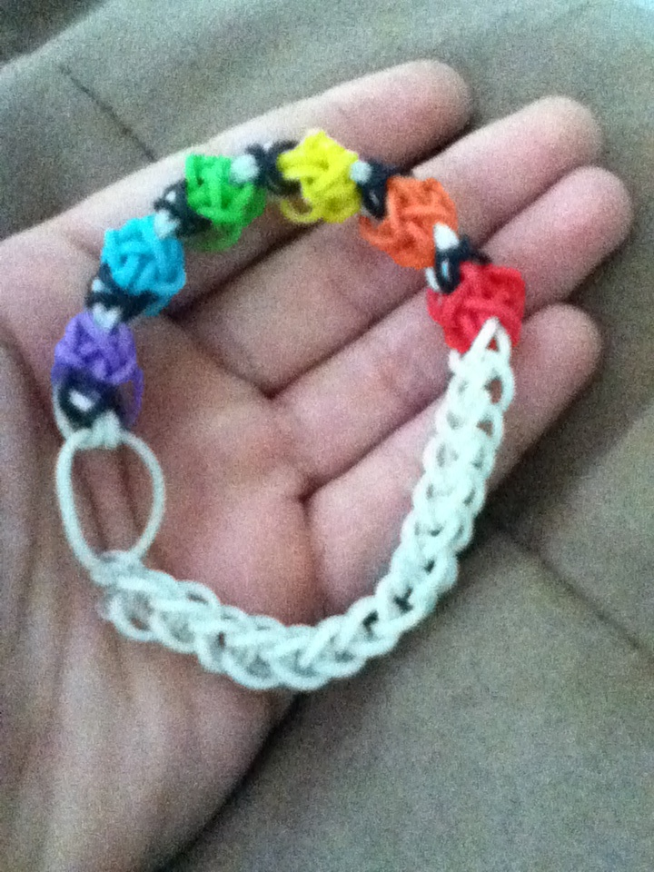 My tulip tower rainbow loom bracelet