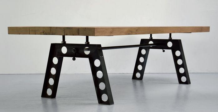 Industrie Design Esstisch Stahl Hovel