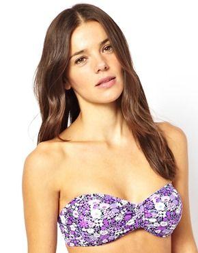 All About Eve Ditsy Floral Bandeau Bikini Top