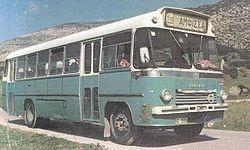 Saracakis SB85 (1966) inter-city bus version (6-cyl. Volvo engine)