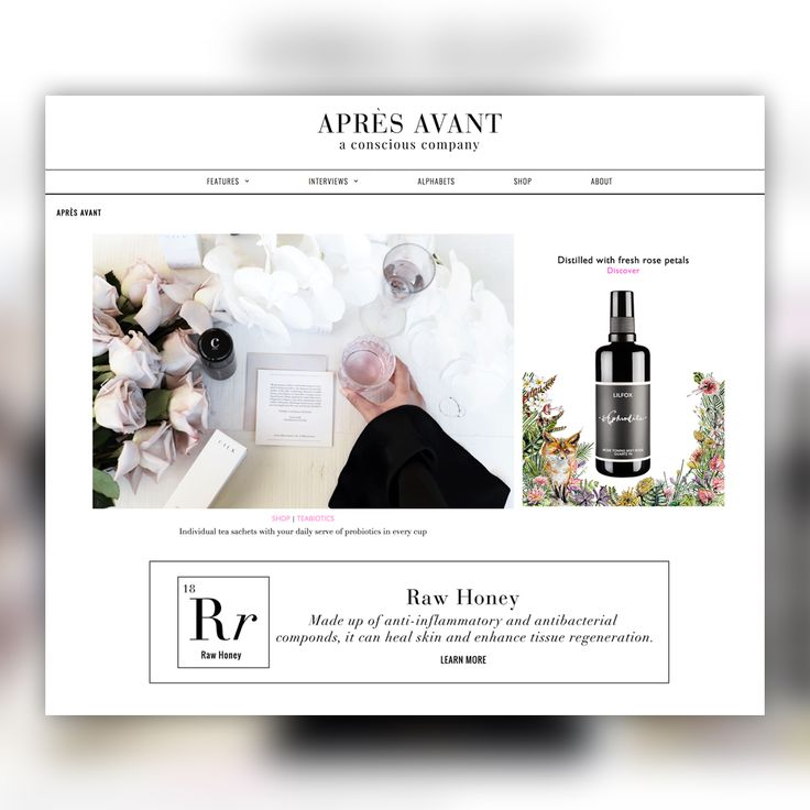 A magazine-style website for Après Avant, that share beauty tips and sells skin care products, integrated with an online payment system for ease of transactions. #inpixelhaus #webdesign #webdevelopment #skincare #beautytips #contentmanagementsystem #cms #website #ecommerce #seo