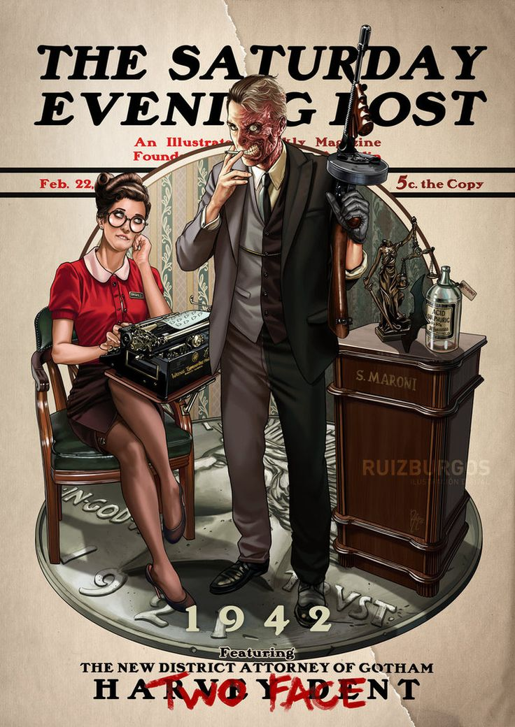 "Nueva pieza* de mi serie ""Saturday Evening Post""! Esta vez con la HARVEY DENT / DOS CARAS. Siempre ha sido uno de mis villanos preferidos. New piece* of my ""Saturday Evenin..."