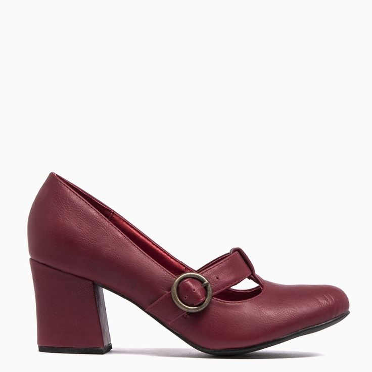 Featuring a functional buckle, 6.5cm heel and leather lining. Perfect for wearing to work with pants or for a night out with the girls- Gorgeous red - Closed toe- Sexy 6.5cm heel- Feature functioning buckle- Leather lining- Available in red & black - $79.95