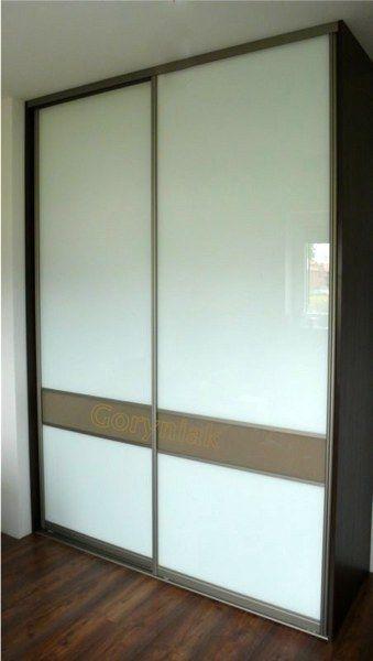 Drzwi na profilach Indeco do szafy w zabudowie szkło lakobel