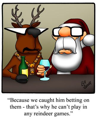 Spectickles: Because We Caught Him Betting On Them   Thatu0027s Why He Canu0027t ·  Reindeer GamesFunny CartoonsChristmas HumorChristmas ...
