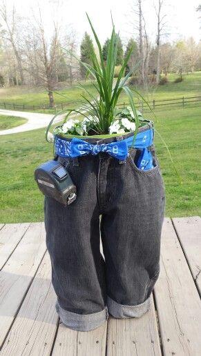 Blue Jean planter  Our Hobby Shop  Garten gestalten