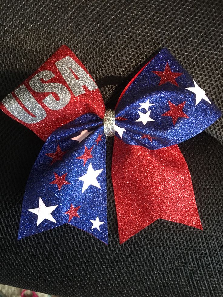 4th of July Cheer Bow-Patriotic Cheer Bow- USA Cheer Bow- Cheer Bow- Red, Blue snd White Cheer Bow by RouzandLezar on Etsy https://www.etsy.com/listing/534169827/4th-of-july-cheer-bow-patriotic-cheer