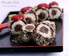 I have heard about Chocolate Sushi for the first time from my husband. He went on a business trip from last Wednesday to Friday and stayed at the Mariot Hotel, where they serve Chocolate Sushi as d…