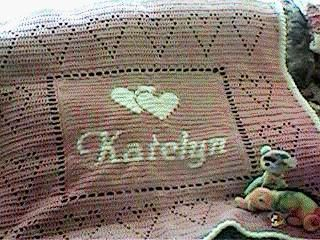 Personalized Baby Afghan w charts for different words. This is the utimate baby afghan for that special baby.
