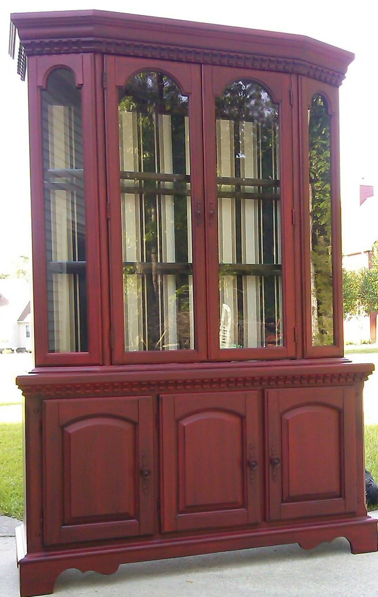 Beautiful in General Finishes holiday Red Milk Paint and ...