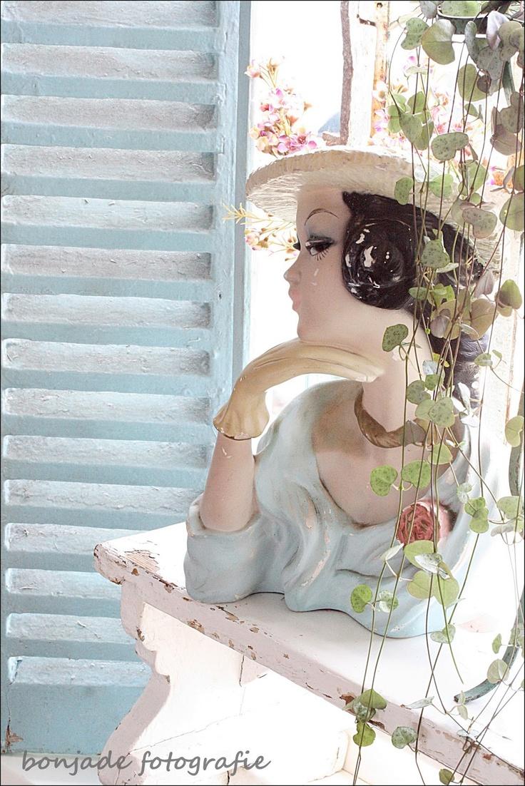 20 best vintage head vases images on pinterest jars vase and vases shabby chic decor with a vintage head vase rubylane reviewsmspy