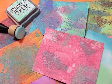 How to Tutorial Distress Oxide Backgrounds http://www.huckleberryherbs.com/ - YouTube