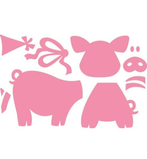 *Schweinchen*Collectables*9 Stanzen*Schwein*Scrapbooking*Marianne Design*Schwein*Party*Einladung*Geburtstag*