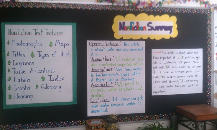 Nonfiction Summaries: Excellent chart of nonfiction text features and how to summarize nonfiction information. Great for the all important research paper.