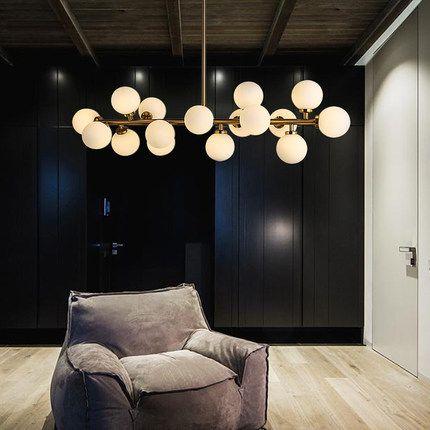 16 Lights Simple Creative Modern Pendant Light Stainless Steel Hanging Lamp Glass Ball Drop For Home Lighting Lamparas Colgantes