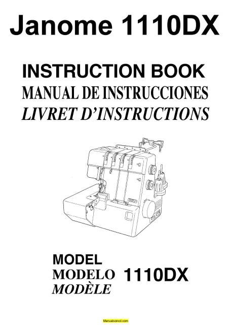 Janome 1110DX Serger Sewing Machine Instruction Manual in