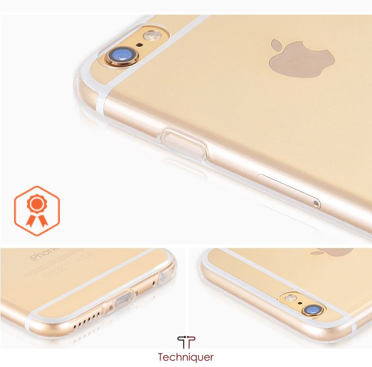 """iPhone 6 Plus Case / iPhone 6S Plus Case [5.5""""],Ultra Slim[0.6mm] Lightweight[0.8g] Transparent TPU Bumper Case with Dust Caps for Max Protection & Shock Absorption-Lifetime Warranty 100% Satisfaction"""