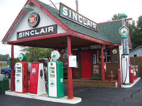Inspiration for Gas Station at corner of Stillwater Springs Rd. & Second St. North in Stillwater Springs.