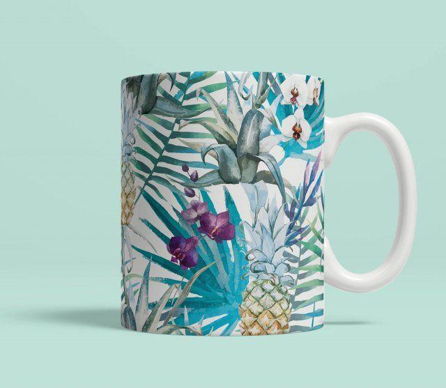 Kubek ceramiczny Tropical Pineapples